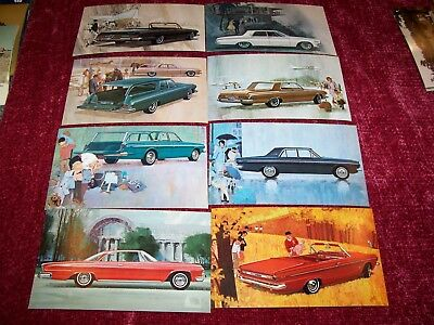DODGE 1963 N.O.S. Post Cards (8 different)
