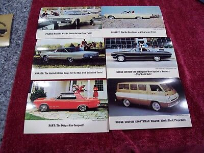 DODGE 1965 Post Cards--N.O.S.--(6 different)