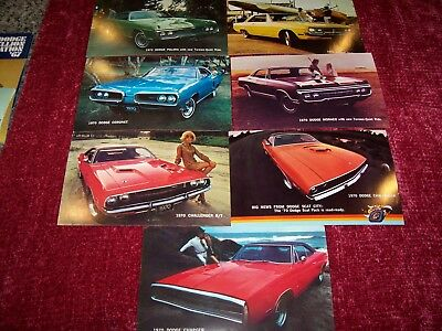 DODGE 1970 Post Cards--N.O.S.--(8 different)