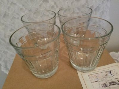 Beautiful Set Of Four  Longaberger 12 oz Tumblers  Woven Traditions Glasses