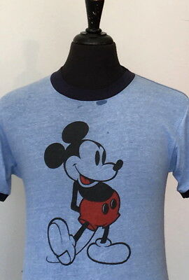 vintage 80s MICKEY MOUSE soft thin T SHIRT small DISNEY