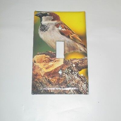 Classic House Sparrow Wild Bird Light Switch Cover Plate