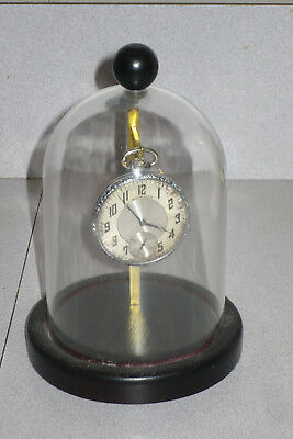 Antique Vintage Dome Display Case Wood Japan  Jewelry Pocket Watch  Ornament