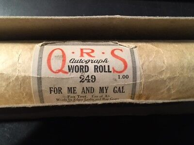 Q.R.S WORD ROLL, Piano Roll For me and my Gal