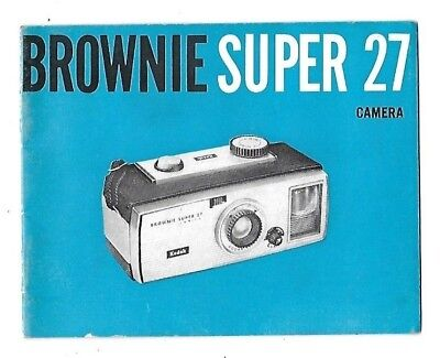 1963 Kodak Brownie Super 27 Camera Instruction Guide Manual Photography