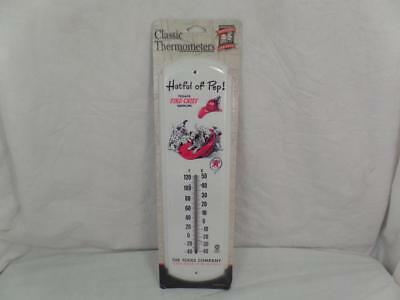 "New Texaco Fire Chief Hatful of Pep Metal Thermometer 17"" tall Gasoline Texas"