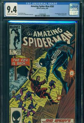 AMAZING SPIDER-MAN #265 CGC 9.4 NM 1st SILVER SABLE Marvel Comics MOVIE SOON NR!