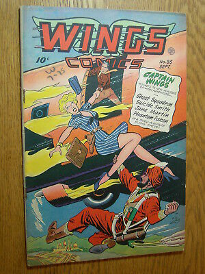 Wings Comics #85 VG GGA heels and hand grenades