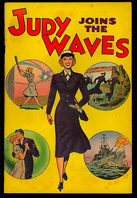 Judy Joins the Waves #nn Very Nice US Navy Giveaway Comic 1951 FN-