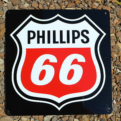 PHILLIPS 66 Metal Gas Station Pump Sign UNION 76 Advertising Garage Mechanic 10d
