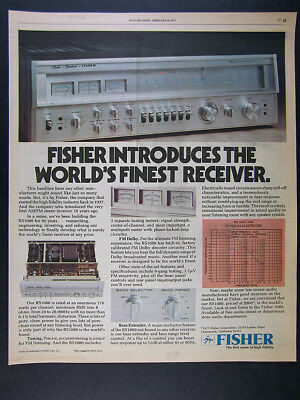 1977 Fisher RS1080 RS-1080 Stereo Receiver photos vintage print Ad