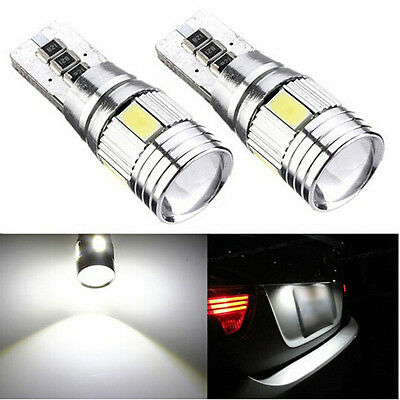 2* LED Xenon White Error Free Canbus 6SMD Side Wedge Light Bulb T10 194 168 W5W