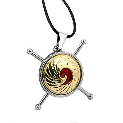 New 2017 Anime Naruto LOGO Gold Alloy Pendant Necklace Cosplay Gift 1.6""