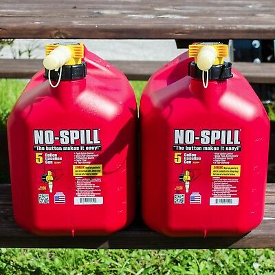 4 Pack of Red 5 Gallon No Spill Poly Gas Cans,Great For Landscapers,Tree Company