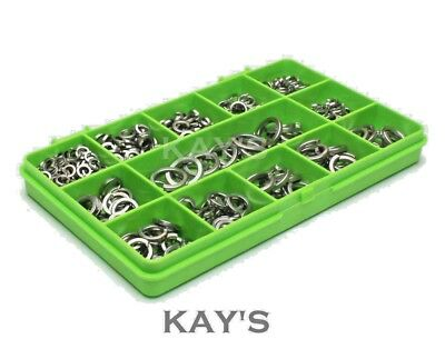 Spring Coil Washers A2 Stainless Steel M4 M5 M6 M8 M10 M12 Mixed 400 Piece Kit