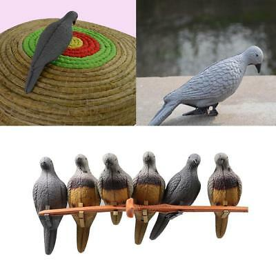 6/12pcs Archery 3D Pigeon Hunting Shooting Practice Model Decoy EVA Target