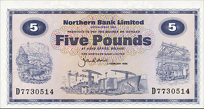 Nordirland / Northern Ireland 5 Pounds 1986 Pick 188e (1)