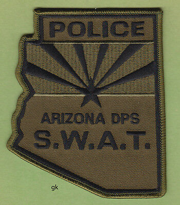ARIZONA POLICE  SWAT  DEPARTMENT OF  PUBLIC SAFETY STATE SHAPE PATCH  (Subdued)