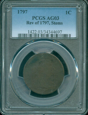 1797 Rev Of 97 Draped Bust Large Cent Pcgs Ag03 (1824220)