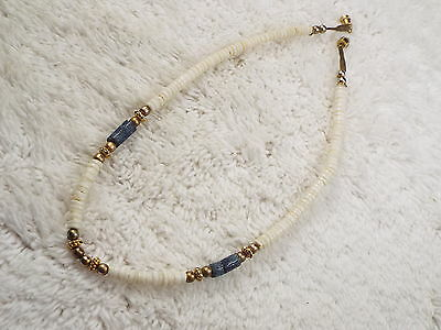 Brass Bead & Shell Necklace (A59)