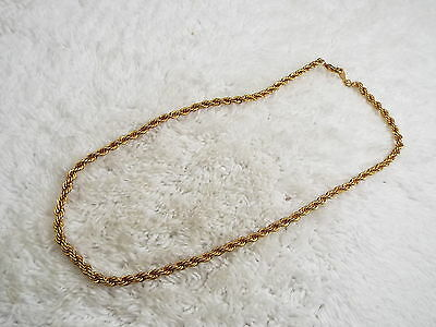 Twisted Goldtone Chain Necklace (A7)