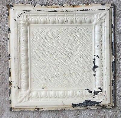 "1890's 24"" x 24"" Antique Reclaimed Tin Ceiling Tile Tan 168-18 Anniversary"