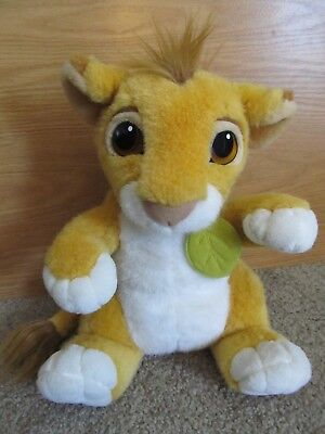 "Disney Store 12"" Talking Simba Plush Soft Toy Lion The Lion King *ec"