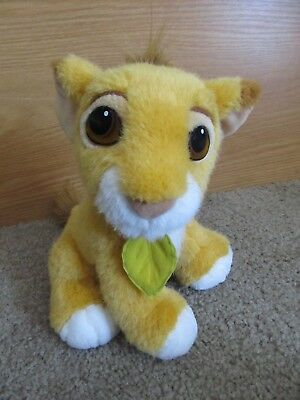 "Disney Store 9"" Purring Simba Plush Soft Toy Lion The Lion King *ec"