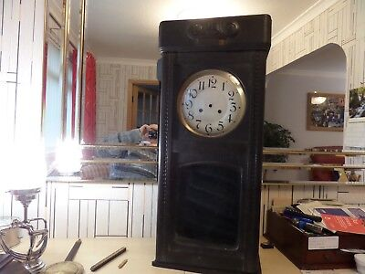 Very Large Antique Wall Clock In Bits For Spares / Repair, Some Parts Missing