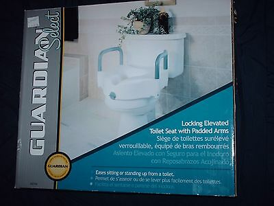 New Guardian Select 30270A Locking Elevated Toilet Seat with Padded Arms
