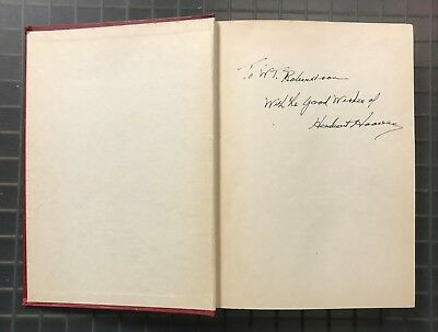 President Herbert Hoover Signed Challenge to Liberty Book Autograph AUTO JSA LOA