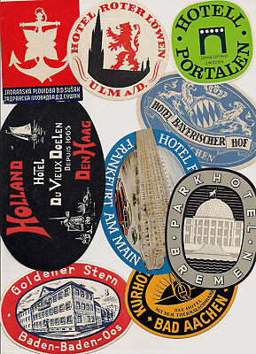 Hotel Europe Advertising Luggage Label Poster stamp Lot Collection ~45 different