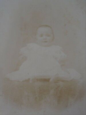 Cabinet Card Photo Small Baby in White Photo by Redden Annapolis NS