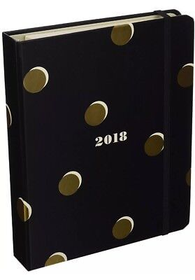 KATE SPADE Scatter Dot 17 Month Medium 2018 Agenda Planner Calendar  NWT