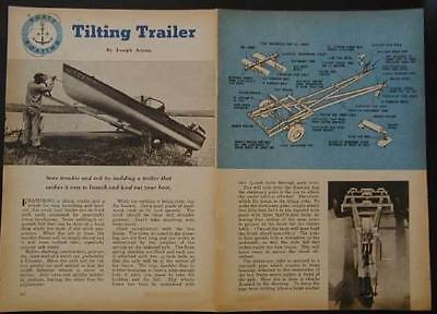 14' Tilting bed Boat Trailer How-To build PLANS Launch without a ramp