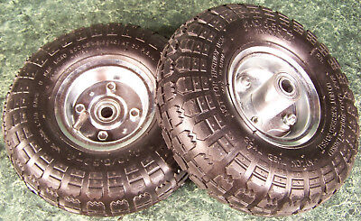 """2pc 10"""" inch Air Inflatable RUBBER WHEELS with Rim Dolly Tire wheel NEW"""