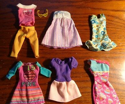 Lot of Barbie Doll Clothes: Labeled GENUINE Dress Sunglasses 6 outfits pants top
