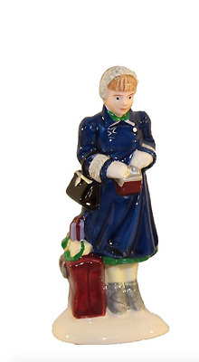 Dept 56 Snow Village - Starbuck's Coffee 54870 Single Woman Figure Only