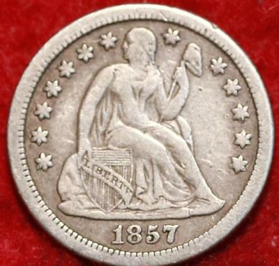 1857-O New Orleans Mint Silver Seated Liberty Dime