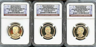 2016 S Presidential $1 Set FIRST RELEASES From 13-Coin Proof Set NGC PF70 U.C.