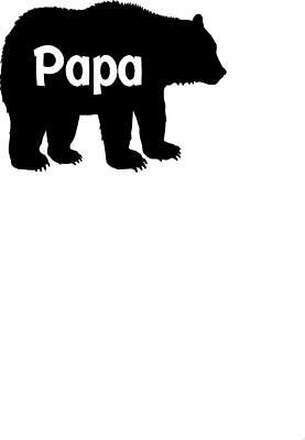 and Camouflage Available! Foil Papa Bear Vinyl Decal Mama Holographic Glitter