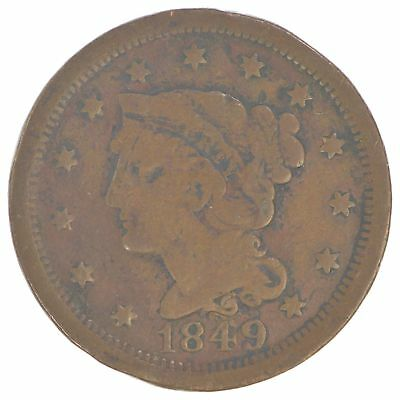 1849 Braided Hair Large Cent *547