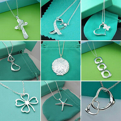 Wholesale Lady /Womens solid 925silver Pendant Silver necklace Fashion jewelry