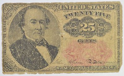 1874 25 Cents 5th Issue Fractional Currency *347