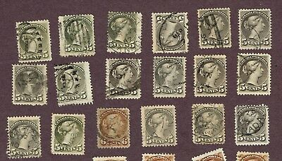 Canada  Small Queens Various Shades And Cancels Fine  (Ocr15