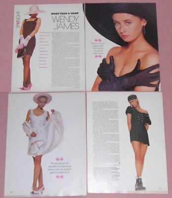 WENDY JAMES/Transvision Vamp - 4 Page Aussie Article 1989 In Australian Fashions
