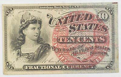1869-1875 Ten Cents 4th Issue Fractional Currency *712