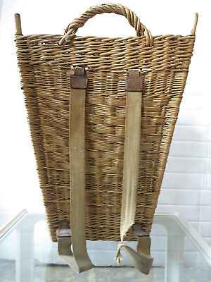 antik Korb Marktkorb Tragegurt Ostern TRUE VINTAGE plaited basket old handcraft