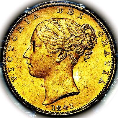 1841 Queen Victoria Great Britain London Gold Sovereign PCGS MS65