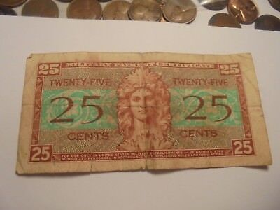Military Payment Certificates 25 Cents Series 521 #WHITE